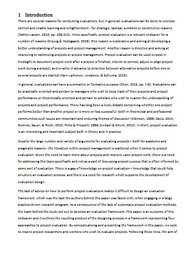 university project evaluation