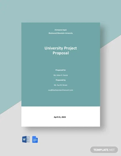university project proposal template