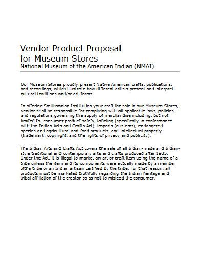 vendor product proposal