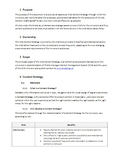 web content strategy in pdf
