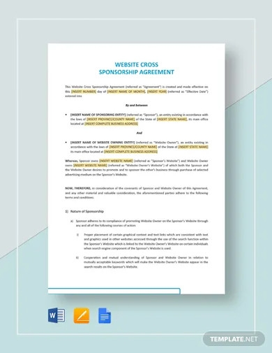 Sports Sponsorship Agreement Template from images.examples.com