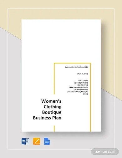 womens clothing boutique business plan template