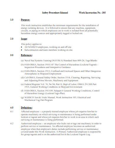 work instruction in pdf