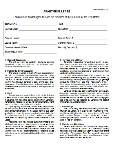 apartment lease agreement in pdf