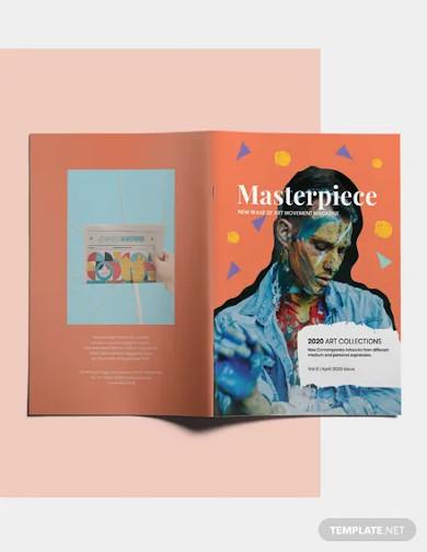 art magazine template