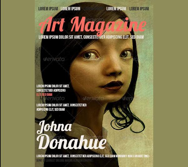 art magazine in indesign