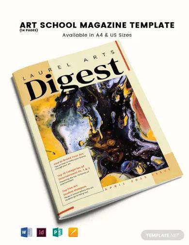 art school magazine template