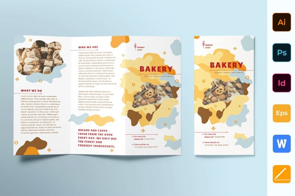 bakery brochure trifold example