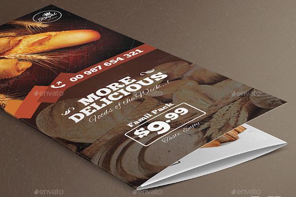 bakery food trifold brochure