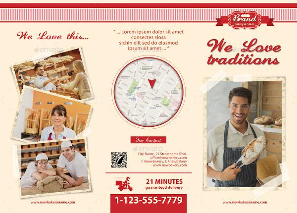bakery shop fold brochure