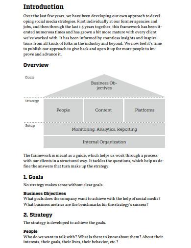basic social media strategy