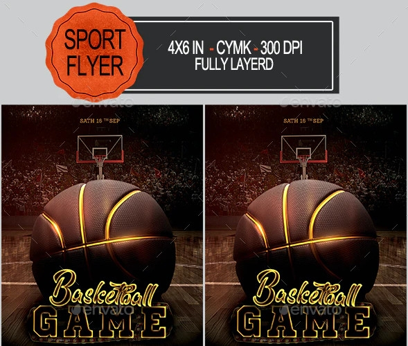 basketball flyer in psd