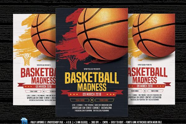 basketball madness flyer template