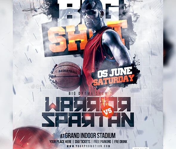 basketball player flyer