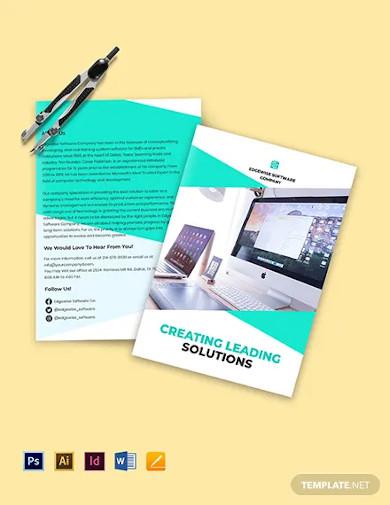 bi fold computer programming brochure template