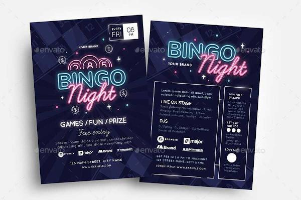 bingo flyer design