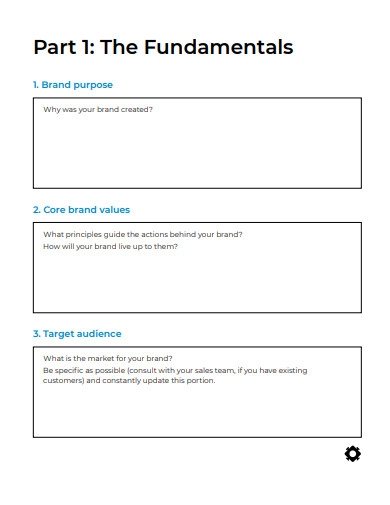 blank brand strategy template