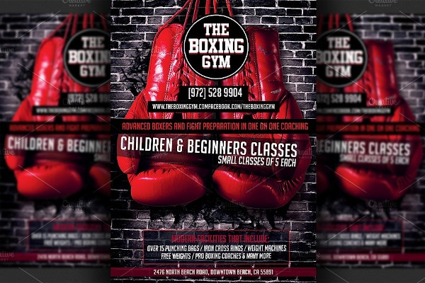 boxing gym flyer example