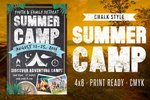 chalk summer camp flyer
