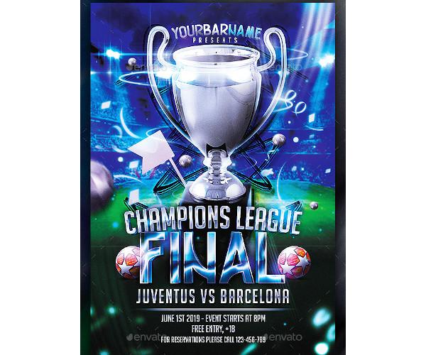 champions league final flyer