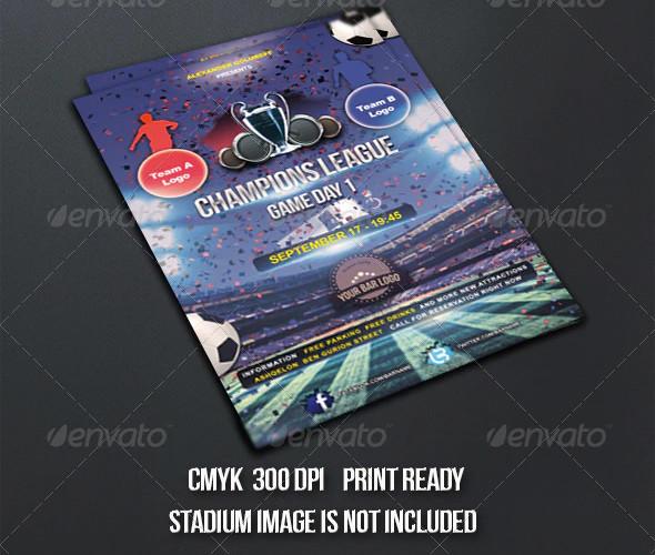 champions league football flyer template