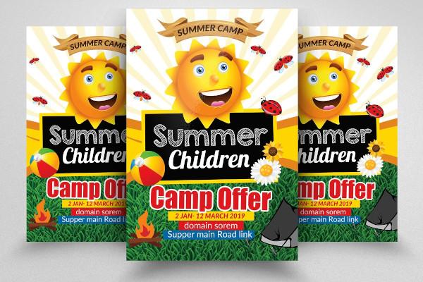 children summer camp flyer