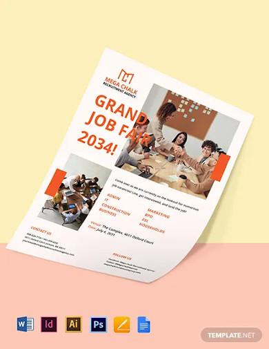 company job fair flyer template