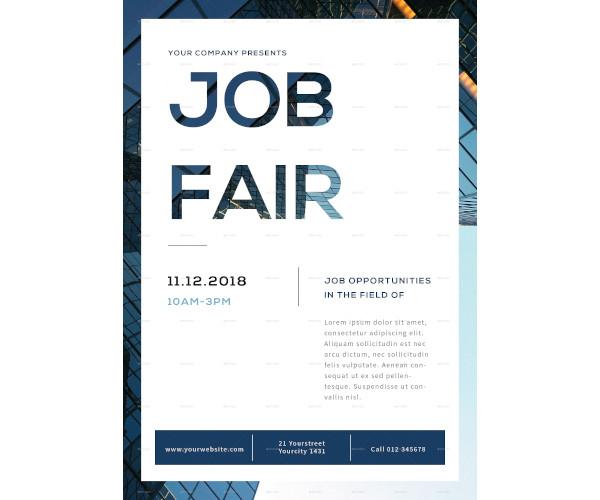company job fair flyer