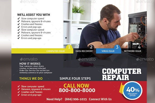 computer repair trifold