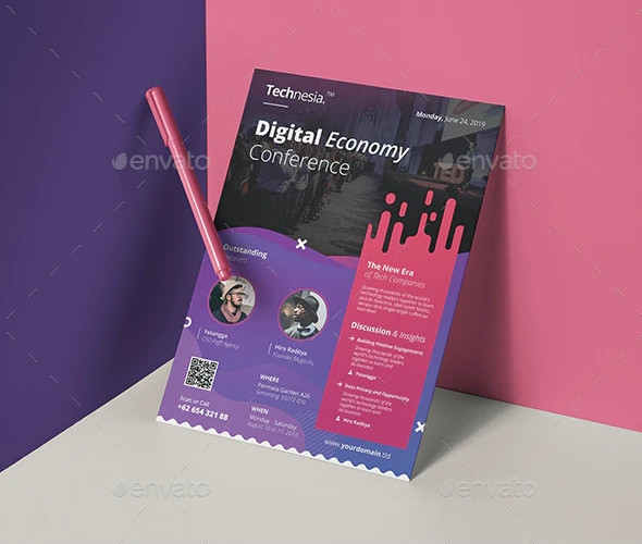 conference event flyer banner template
