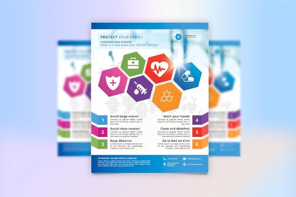 coronavirus medical flyer template