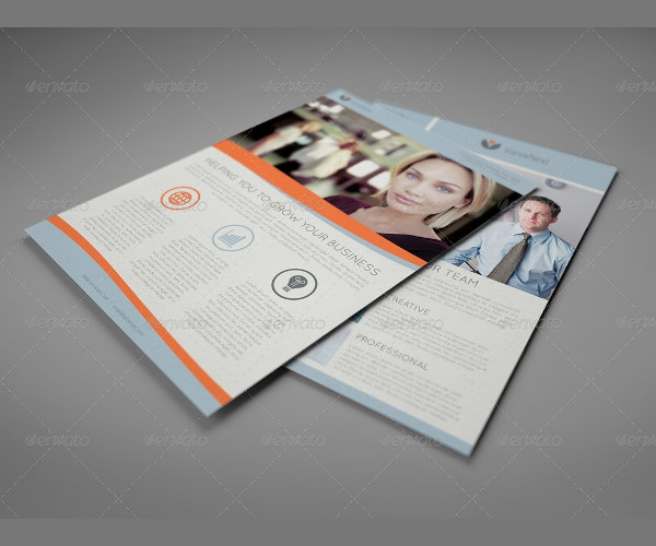 corporate double sided flyer