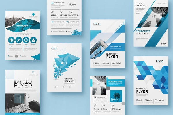 corporate flyer double sided