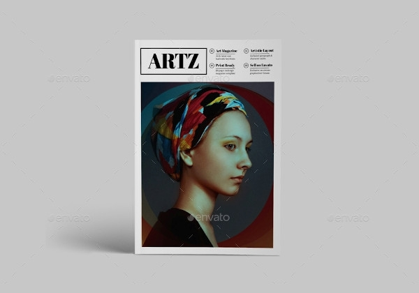 creative art magazine template