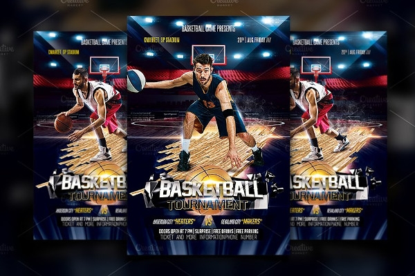 creative basketball flyer template