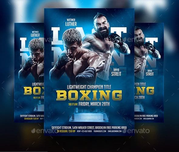 creative boxing flyer