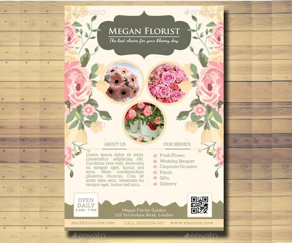 creative flower shop flyer