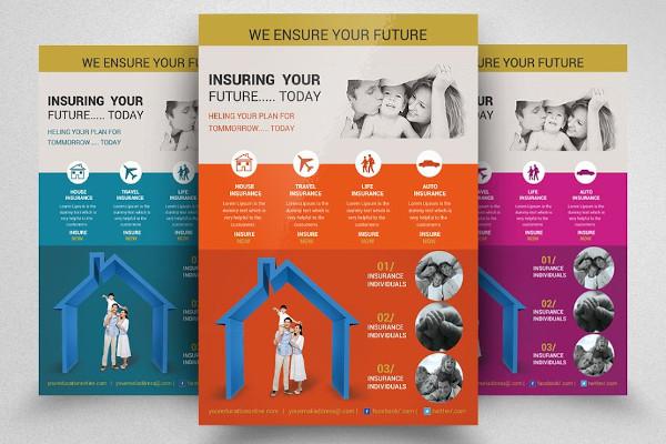 creative insurance flyer template