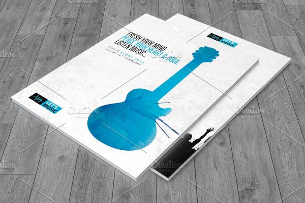 creative music festival brochure