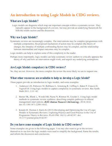 developing logic models