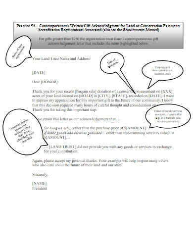 donation acknowledgement letter example