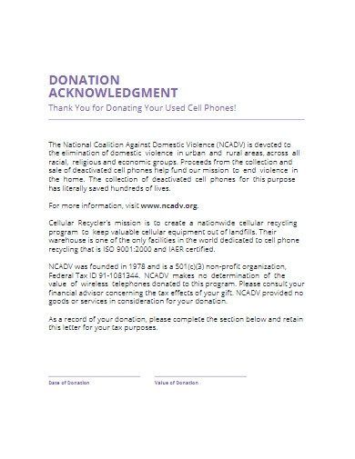 donation acknowledgement letter in pdf