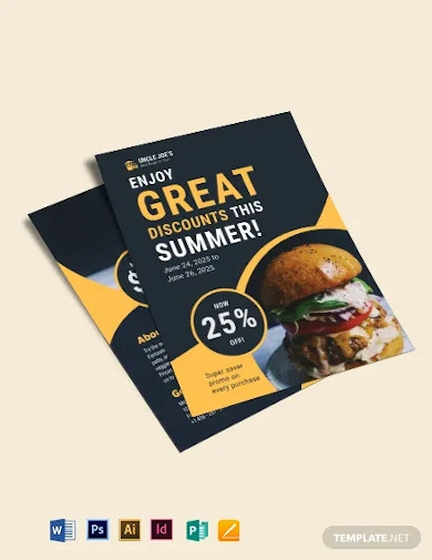 double sided fast food burger flyer template