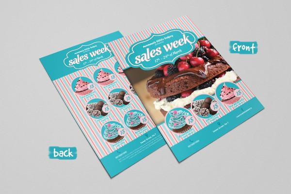 double sided sweet shop flyer