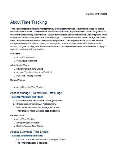 e builder time tracking