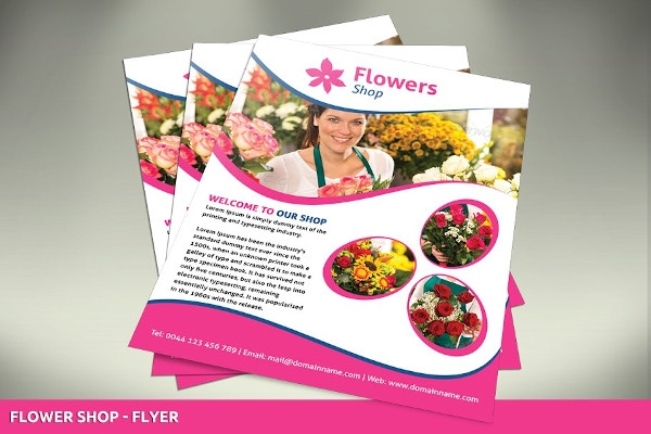 editable flowers shop flyer