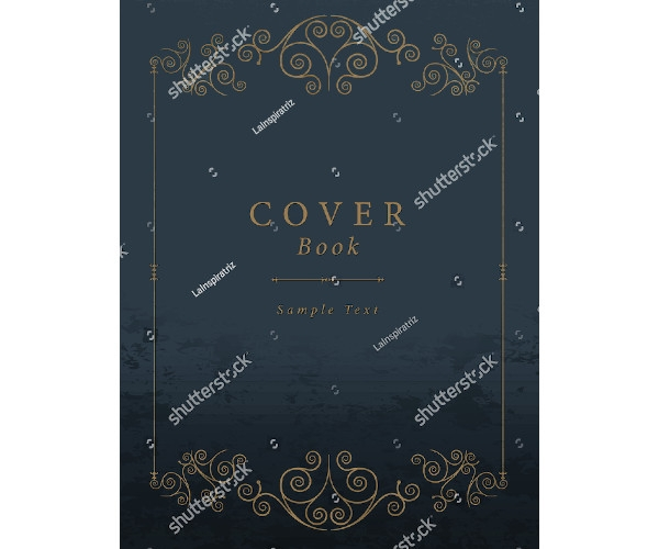 editable vintage book cover