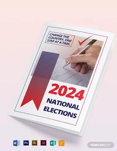 election bi fold brochure template