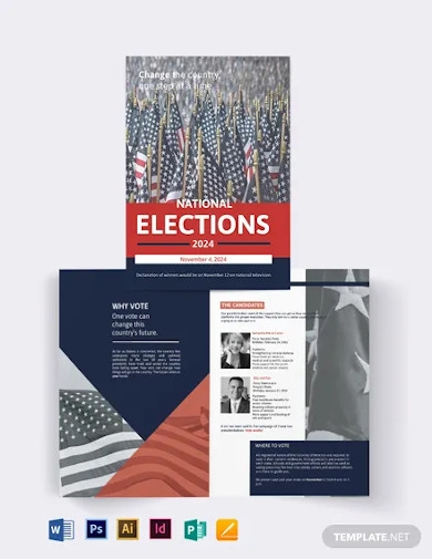 election campaign bi fold brochure template