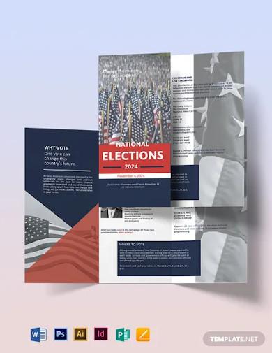 election campaign tri fold brochure template